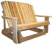 Click to enlarge image  - Adirondack Loveseat Glider - Designed for love birds with room for two to curl up in!